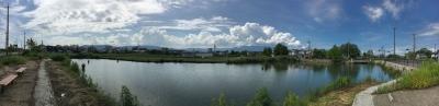 カヤ池から眺めた西の空(8月2日14時40分頃)