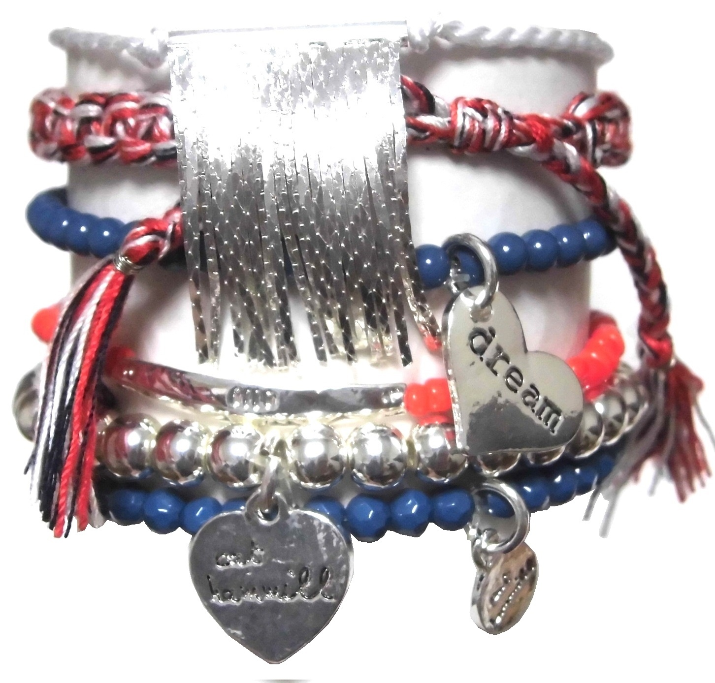 A315 Nautical Chain Tassel Set bracelet (3)