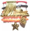 w314 st tropez chain tassel braselet set gold (2)1