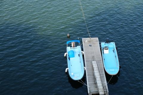 53草木ダムのボート
