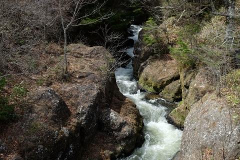 17湯川龍頭の滝へ