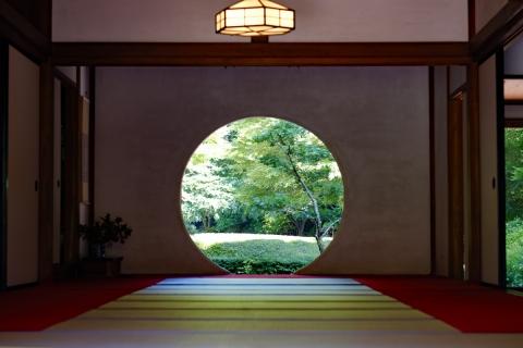 09鎌倉散歩:明月院・丸い窓