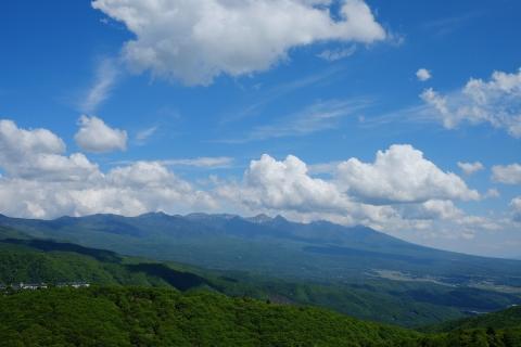 19霧ヶ峰へ八ヶ岳連峰