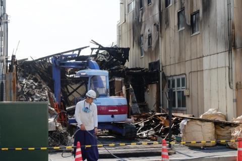 11まだ眠る小田原の裏通り火災現場