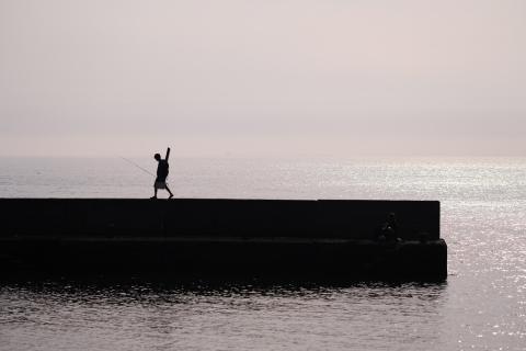 01帰る釣り人