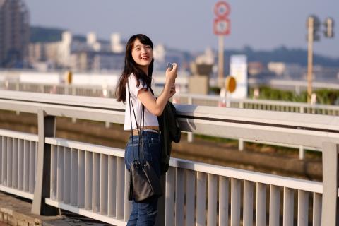 14江の島中国女性