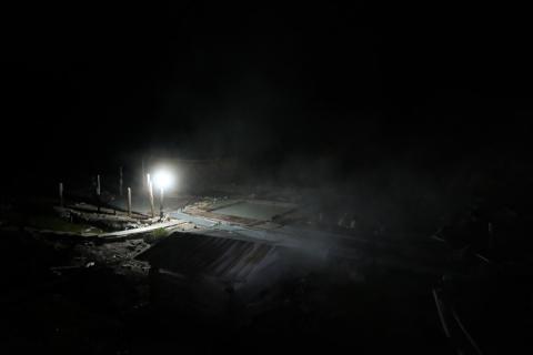27夜の藤七温泉彩雲荘露天風呂