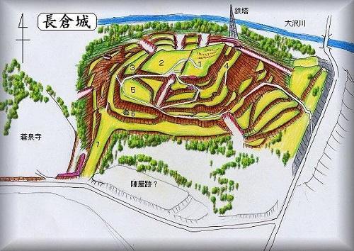 長倉城縄張り図