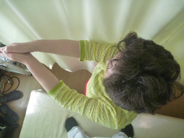 施療後 起立時上半身左回旋制限あり左腰に痛み和らぐ