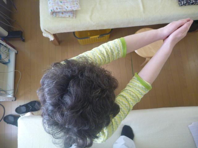 施療前 右回旋の可動角度
