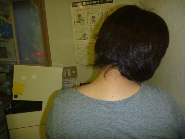 施療後 右側に倒しでの左首すじの痛み和らぐ