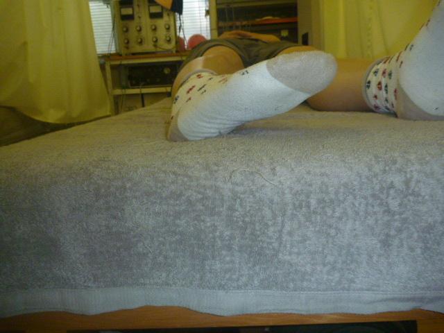 施療後足首外反がしやすく右膝内側・股関節外側に重苦しさを感じる