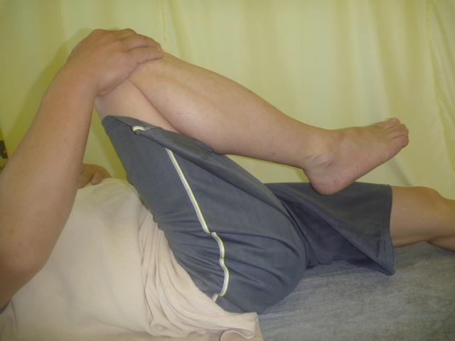 施療後 右股関節の屈曲が楽になり張りも和らぐ