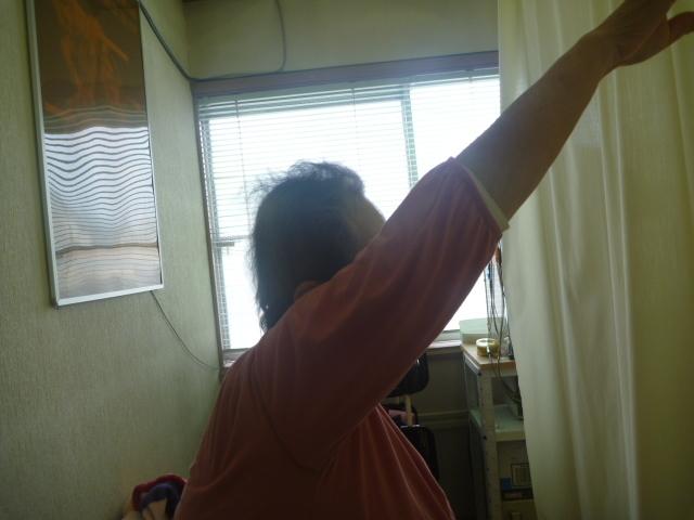 施療後 右肩前方挙上での肩の痛みが和らぎ上げやすくなる