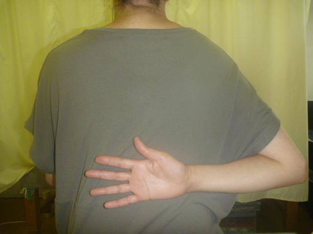 衣替えをしていて重い衣類を持ち運んだ時負傷した。