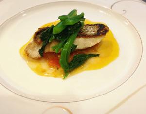 魚と南瓜トマトソース