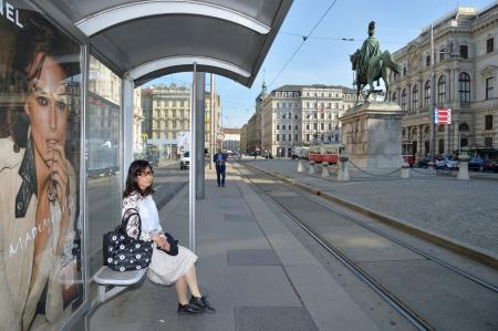 ウィーン中央墓地に向かう路面電車