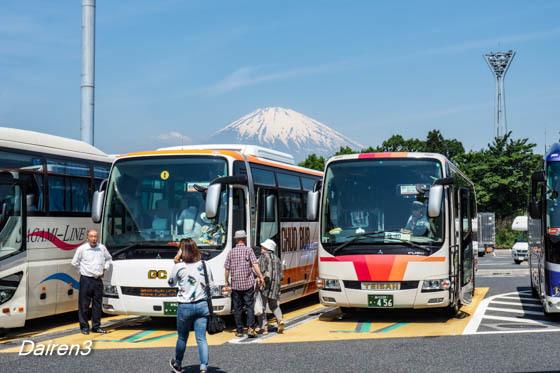 足柄PAから富士山