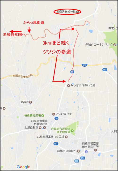 三夜沢赤城神社参道