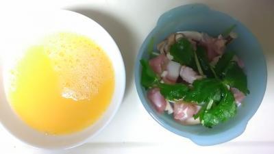 2017年7月卵液と茶碗蒸し材料