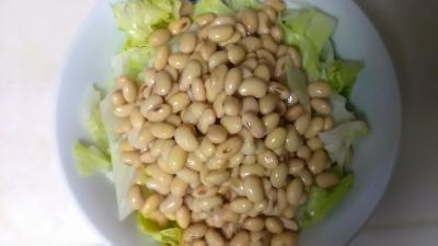 2017年7月大豆とレタスのサラダ