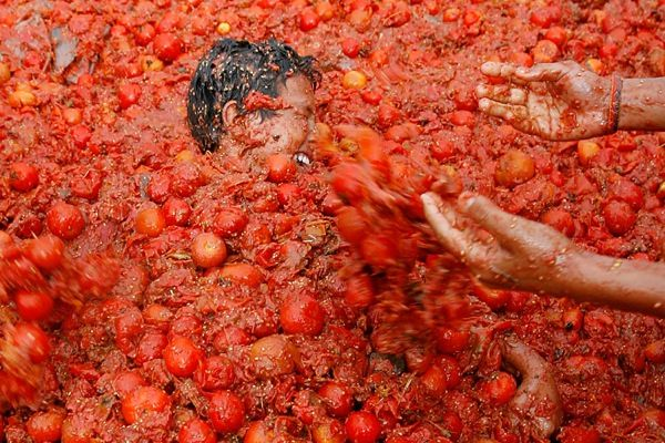 スペイントマト祭り