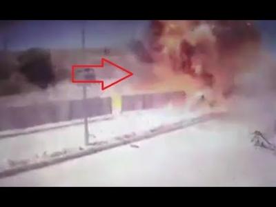 【衝撃!】自爆テロの瞬間映像!(観覧注意!)