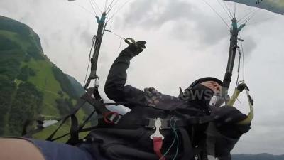 【衝撃!】パラグライダーの事故を生々しく捉えた!