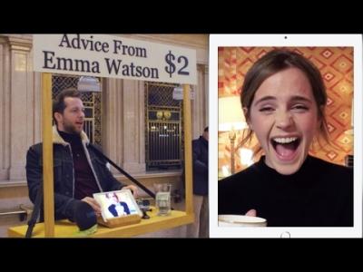 【芸能人サプライズ】エマ・ワトソンが2ドルで何でもアドバイスします!