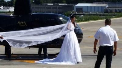 【衝撃!】ヘリでサプライズ登場するはずだった花嫁が事故で死亡!衝撃の瞬間映像!