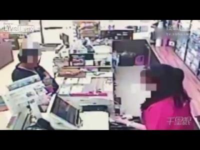 【スゴイ!】女性店員が技ありで強盗の銃を奪った!すげ~!