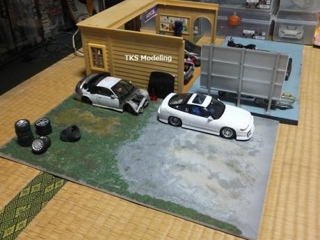 S14事故車物置 (1)