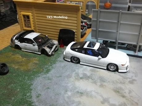 S14事故車物置 (2)