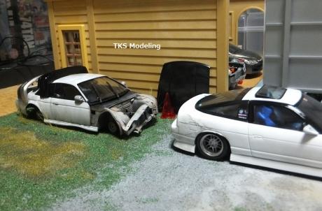 S14事故車物置 (3)