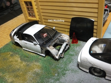 S14事故車物置 (13)