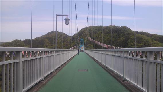 竜神大吊橋橋桁