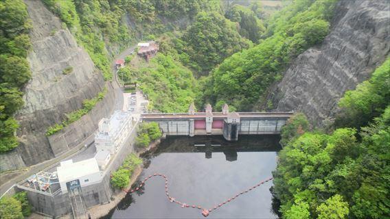 大吊り橋から竜神ダム