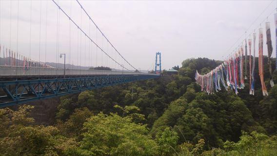左岸側展望台から竜神大吊橋