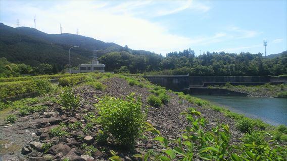 都田川ダム上流側