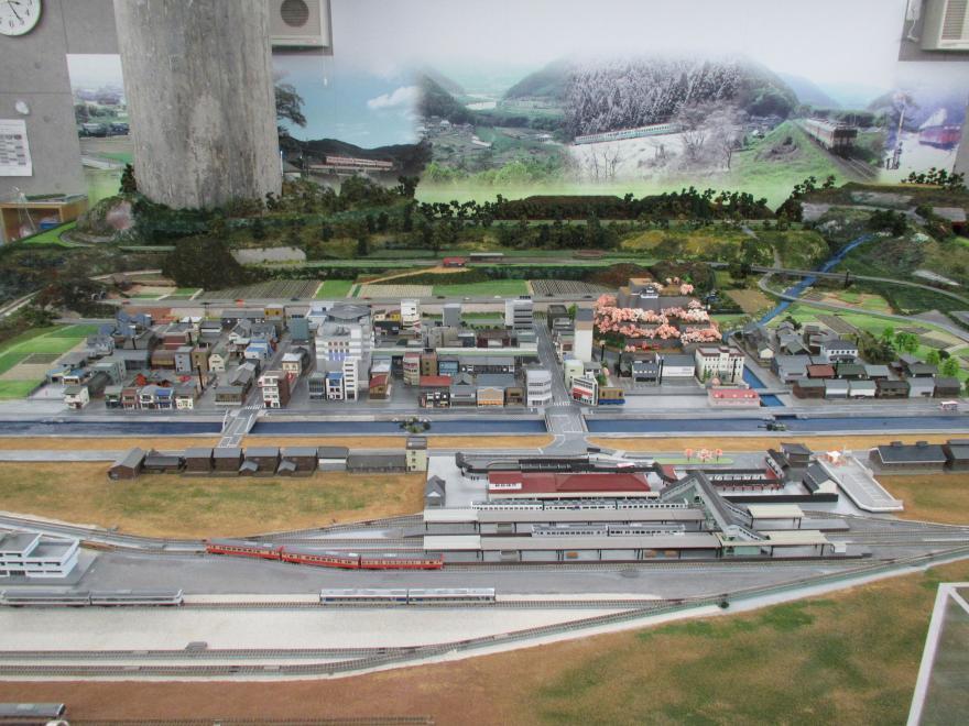 津山まなびの鉄道館ジオラマ1