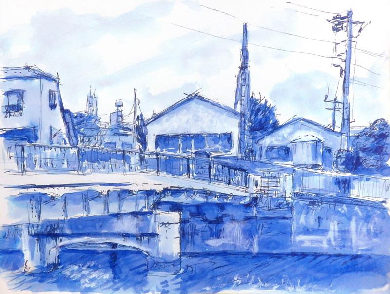 川沿いの町