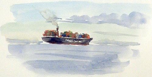東京湾をゆく船-22