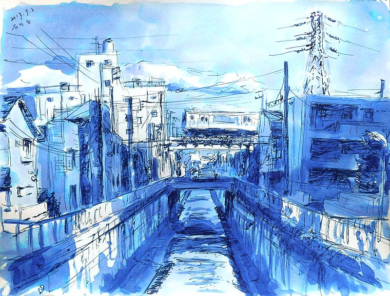 石川台呑川