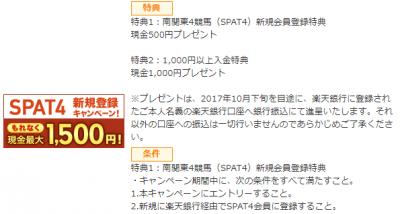 南関東4競馬(SPAT4) 楽天銀行