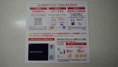 Edy-楽天ポイントカードと説明書