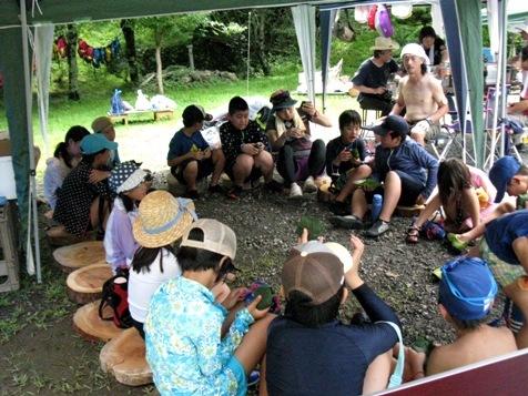 木育キャンプ・昼食