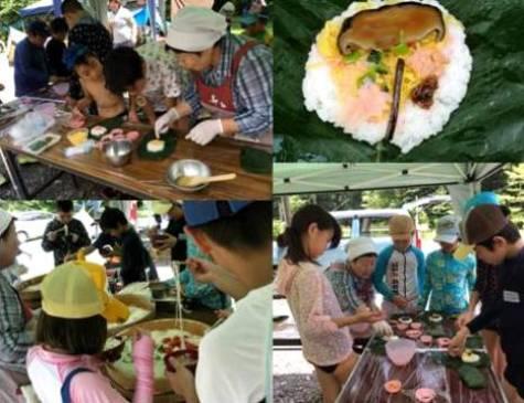 木育キャンプ・朴葉寿司づくり