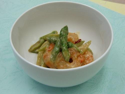 海老とアスパラの味噌マリネ