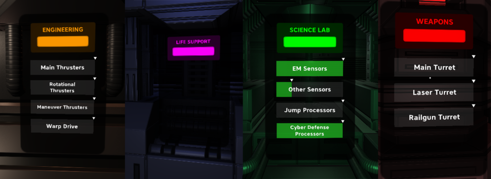 Main System Screens