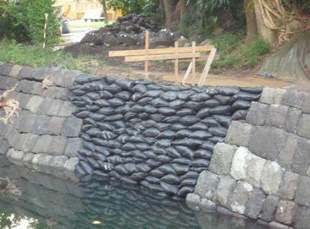 水路は通水されていた
